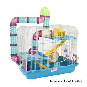 Sky Harvey Explorer 3 Hamster Cage - Blue