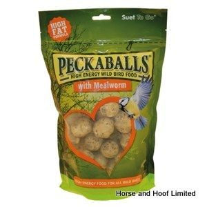 Suet To Go Peckaballs Mealworm Bird Food 1kg