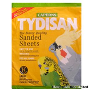 Tydisan Round Yellow Bulk Pack Sanded Sheets  (55x33cm) x 100