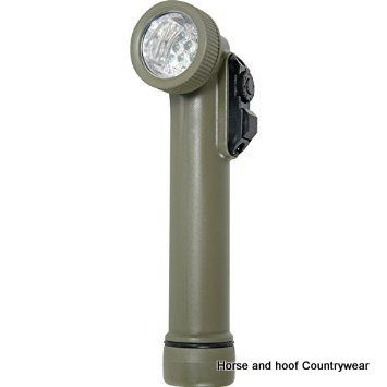 Web-tex LED Angle Torch & Flashlight - Olive Green